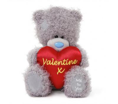 Мишка Тедди  с шелковым сердцем VALENTINE X