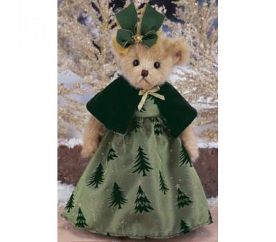 Мишка Беррингтон в платье и перелине, с бантом на голове