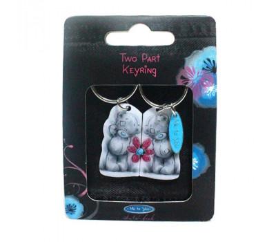 Брелок MTY для ключей двойной - мишки с цветком