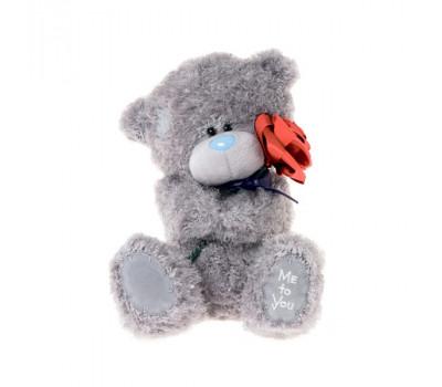 Мишка Тедди MeToYou держит красную розу