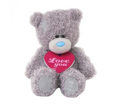 Мишка Тедди MTY  с табличкой LOVE YOU