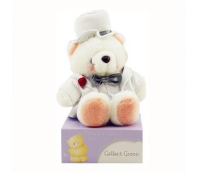 Белый мишка Hallmark FF в костюме жениха