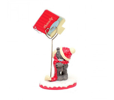 Фотодержатель - мишка Тедди в шапочке и шарфике