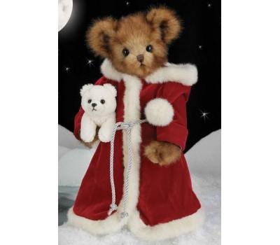 Медвежонок Bearington в красном длинном пальто