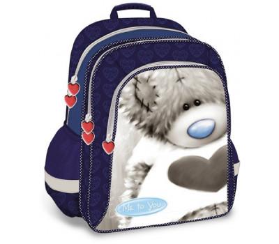 Рюкзак для девочки разноцветный с мишкой Тедди