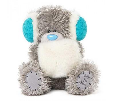 Ведмедик Тедді у навушниках та з муфточкою