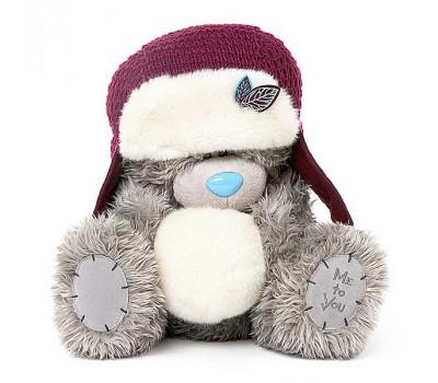 Ведмедик Тедді у шапці із сніжком