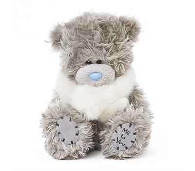 Мишка Тедди в меховом беленьком шарфике