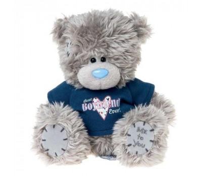Мишка Тедди MTY в свитере BEST BOYFRIEND