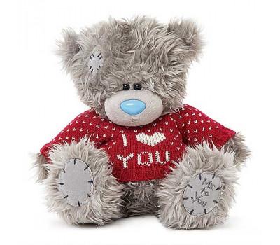 Мишка Тедди MTY  в свитере I Love You