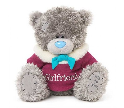 Мишка Тедди MTY  в кофточке с надписью Girlfriend