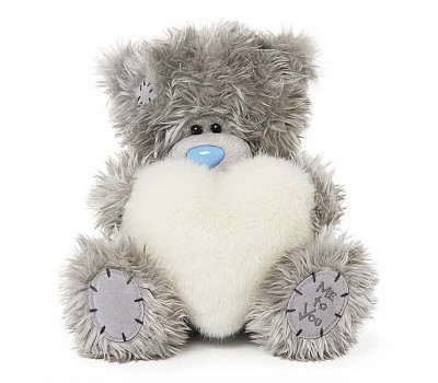 Мишка Тедди MTY  с белым меховым сердцем