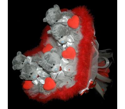 Букет из плюшевых мишек Тедди