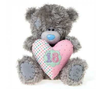 Мишка Тедди MTY с сердцем с цифрой 18