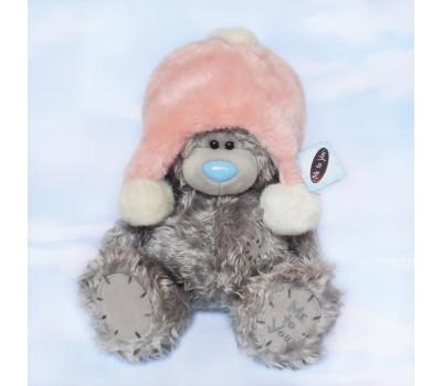 Медвежонок Тедди в розовой шапке