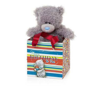 Мишка Тедди MTY в полосатой коробочке