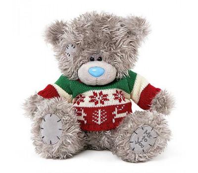 Мишка Тедди в красивом вязаном свитере
