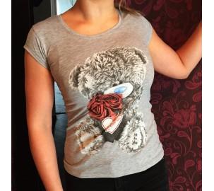 Серая футболка-майка с мишкой Тедди Me To You