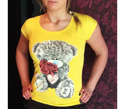 Желтая футболка-майка с мишкой Тедди Me To You