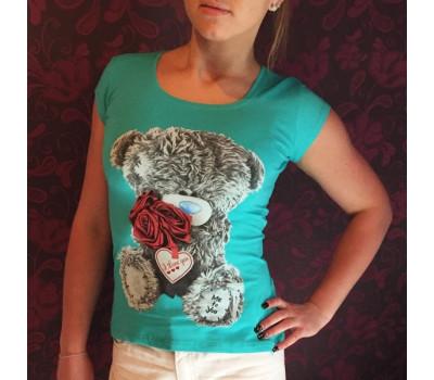 Бирюзовая футболка-майка с мишкой Тедди Me To You
