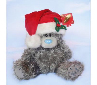 Мишка Тедди в Рождественской шапочке