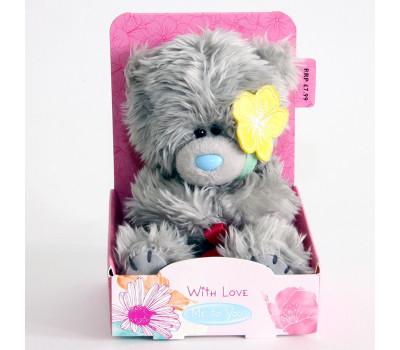 Мишка Тедди MTY с желтым цветком