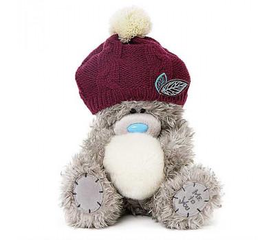 Мишка Тедди MTY  в шапочке и со снежком