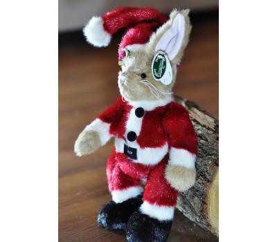 Зайчик Беррингтон в костюме Санта Клауса