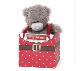 Ведмедик Тедді MTY в подарунковій коробочці Merry Christmas