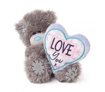 Ведмедик Тедді MTY  з плюшевим серцем LOVE You