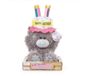 Ведмедик Тедді MTY з тортиком Happy Birthday