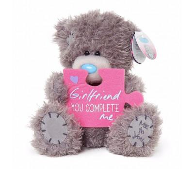 Ведмедик Тедді MTY з пазлом Girlfriend, You complete Me