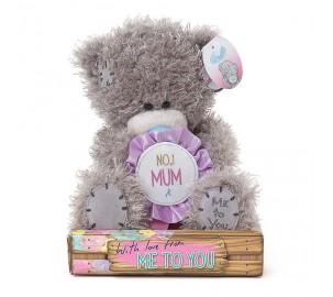 Ведмедик Тедді MTY  з квіткою для  No 1 Mum - МАМІ
