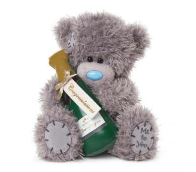 """Ведмедик  Тедді MTY з шампанським """"С Днем Весілля!"""""""