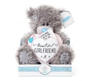 Ведмедик Тедді MTY  з серцем Beautiful GIRLFRIEND