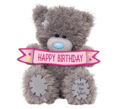 Ведмедик Тедді MTY з табличкой Happy Birthday