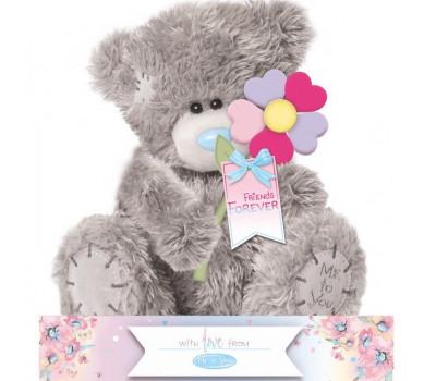 Ведмедик Тедді MTY  з різнокольоровою квіточкою FRIENDS FOREVER