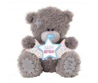 Ведмедик Тедді MTY -  з  зірочками Happy Birthday