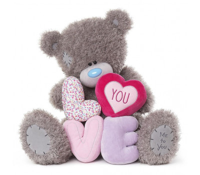 Мишка Тедди MTY  с большими буквами I LOVE