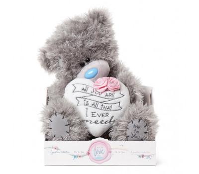 Ведмедик Тедді MTY  з сердечком і з ніжно-рожевими трояндами